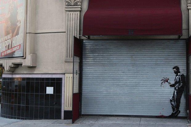 Новое граффити Бэнкси появилось на улицах Адской кухни . Изображение № 1.