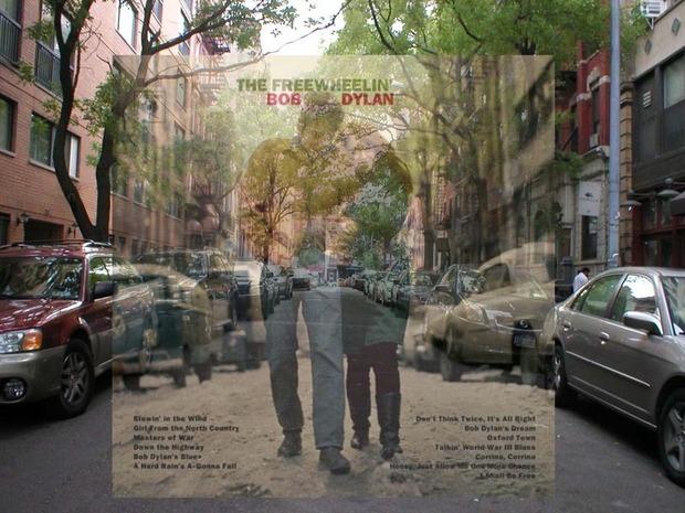 Американский фотограф наложил обложки известных альбомов на современные виды Нью-Йорка. Изображение № 1.
