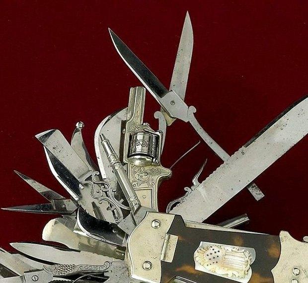 В музее США выставили «мать складных ножей» с сотней инструментов и револьвером в рукоятке. Изображение № 5.