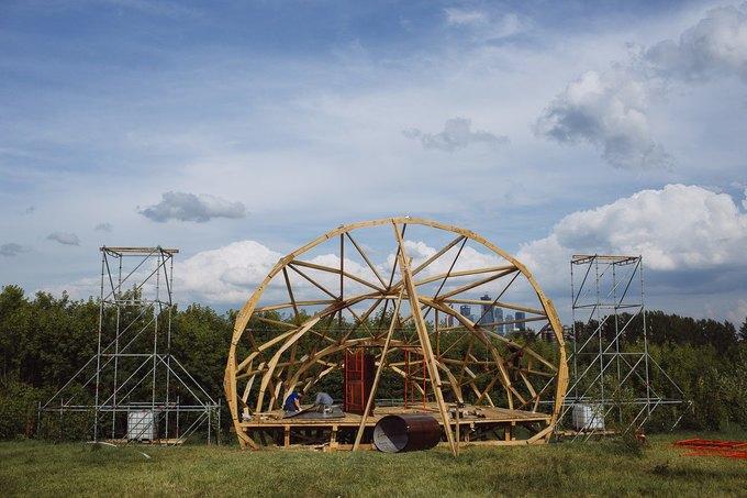 Фоторепортаж: Строительство объектов фестиваля Outline. Изображение № 6.