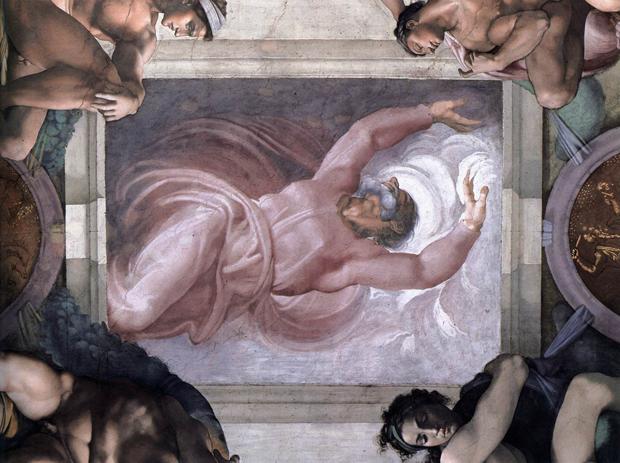 Работа Микеланджело «Отделение света от тьмы». Изображение № 2.