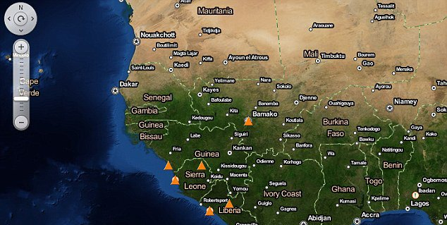 Создана интерактивная карта эпидемий. Изображение № 3.