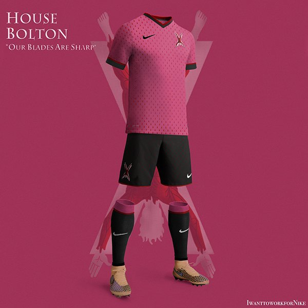 Испанский дизайнер создал футбольную форму для «Игры престолов» . Изображение № 1.