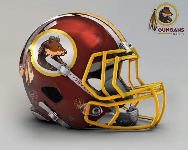 Мексиканец создал коллекцию футбольных шлемов, посвящённую «Звёздным войнам». Изображение № 4.