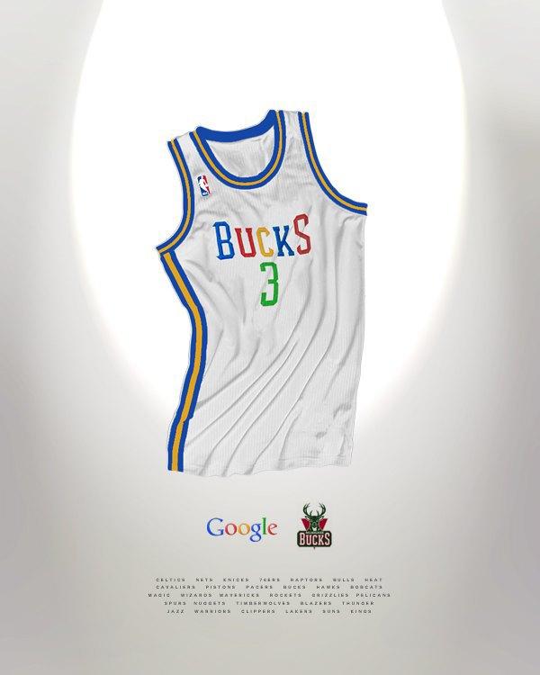 Канадский дизайнер представил, как бы выглядела форма NBA в исполнении культовых брендов. Изображение № 17.