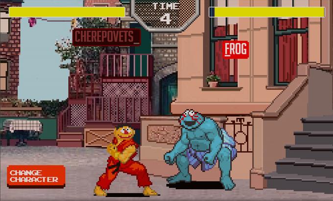 «Улицу Сезам» и Street Fighter скрестили в 8-битную игру. Изображение № 1.