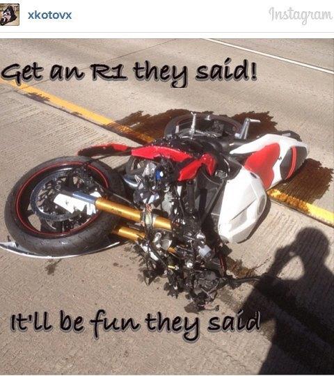 Мотоциклист, врезавшийся в авто на скорости 230 км/ч, выложил видео своей аварии. Изображение № 14.