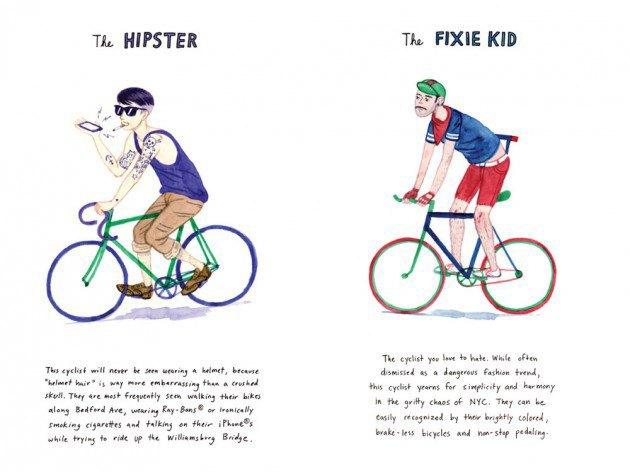 Художник-иллюстратор классифицировал нью-йоркских велосипедистов. Изображение № 5.