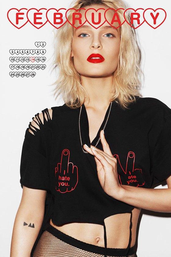 Польская модель Шарлотта Томас снялась для календаря MISBHV. Изображение № 3.