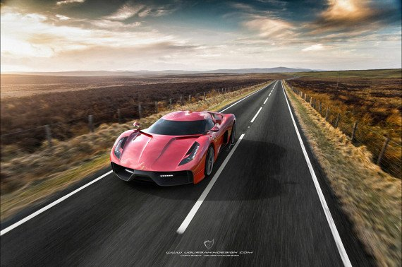 Представлен новый концепт суперкара на базе Ferrari 458 Italia. Изображение № 1.