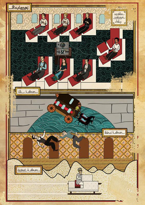 Турецкий художник изобразил кадры из известных фильмов в стиле миниатюр времен Османской империи. Изображение № 29.