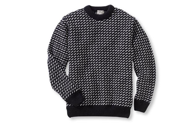 Норвежский свитер. Впервые появился в каталогах L.L.Bean в 1965 году. Свитер состоит из 100%-ной шерсти, которая обладает водоотталкивающей способностью. Изображение № 4.