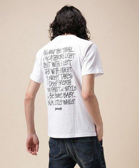 Марки Stussy и Schott выпустили совместную коллекцию футболок. Изображение № 2.
