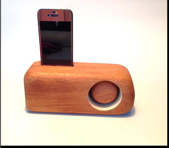 Ручная работа: Деревянный динамик для iPhone Джона-Антона Сьострёма. Изображение № 1.