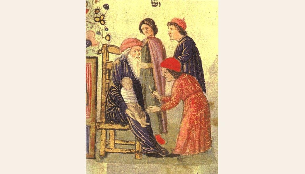 Circumcision, miniature from the Rotschild Miscellanea, Venice (?), 1475, Jerusalem, Bazelel Museum. Изображение № 8.