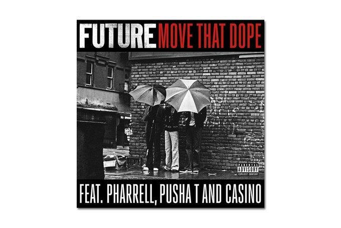 Рэпер Future вместе с Pusha T, Casino и Фарреллом снял новый клип на композицию Move That Dope. Изображение № 1.