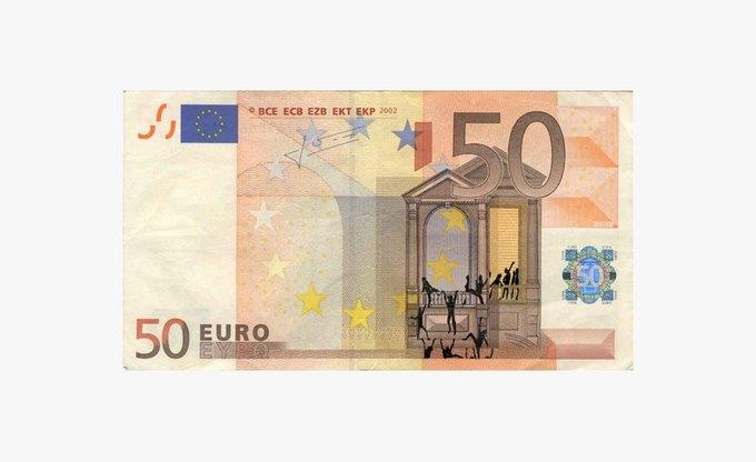 Художник «портит» банкноты евро в знак протеста. Изображение № 2.