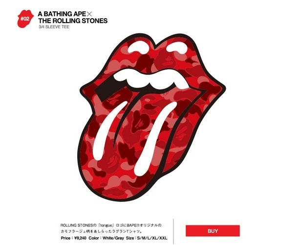 Японские модные бренды отметили юбилей The Rolling Stones коллекцией футболок. Изображение № 4.