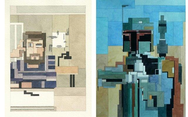 Адам Листер: Иконы поп-культуры в 8-битной живописи. Изображение № 15.