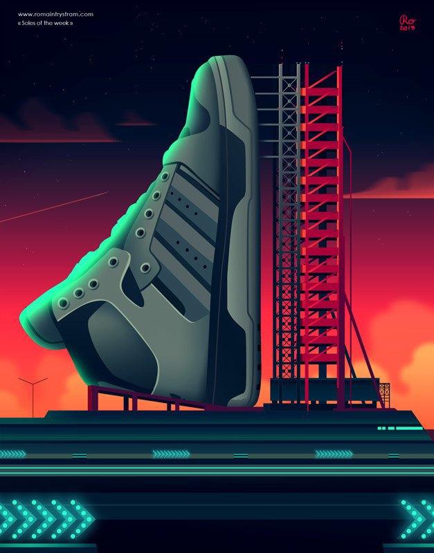 Сюрреалистический взгляд на кроссовки в проекте Sole of the Week. Изображение № 14.
