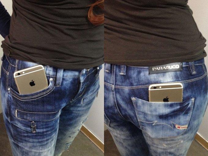 Производители джинсов увеличат карманы для нового iPhone. Изображение № 1.