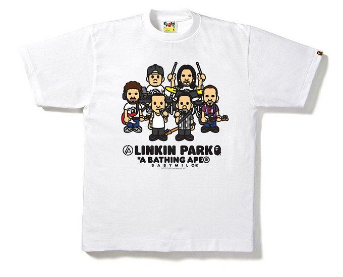 Марка A Bathing Ape и группа Linkin Park выпустили совместную коллекцию футболок. Изображение № 1.