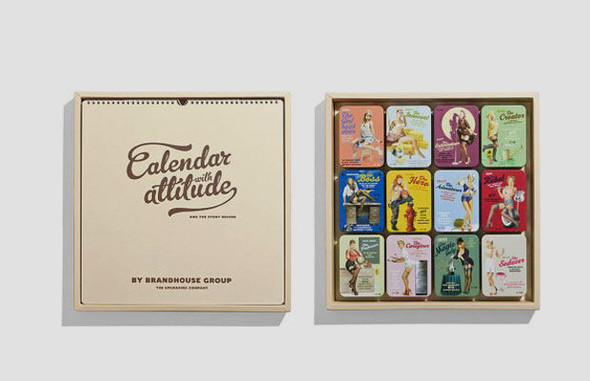 Коробки конфет с портретами девушек в стиле пин-ап. Изображение № 1.