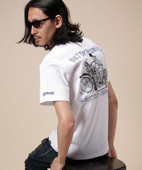 Марки Stussy и Schott выпустили совместную коллекцию футболок. Изображение № 8.