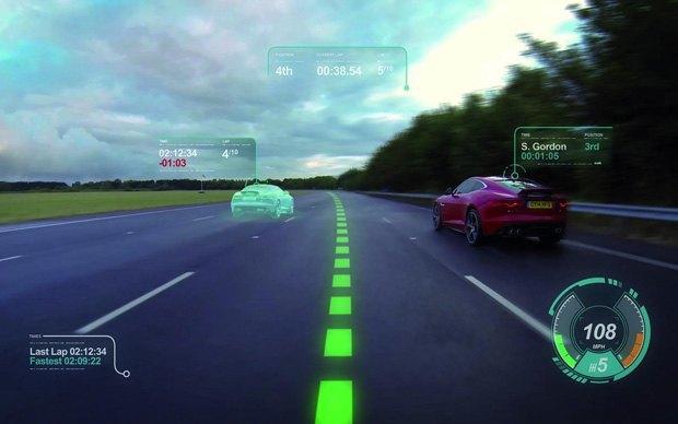 Jaguar анонсировал ветровое стекло дополненной реальности. Изображение № 1.