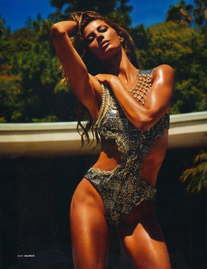 Жизель Бюндхен сфотографировалась для журнала Lui Magazine. Изображение № 7.