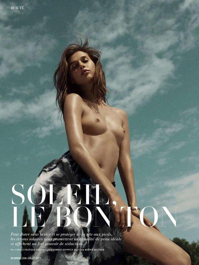 Ханна Химич сфотографировала Анаис Пульо для нового номера журнала L'officiel Paris. Изображение № 1.