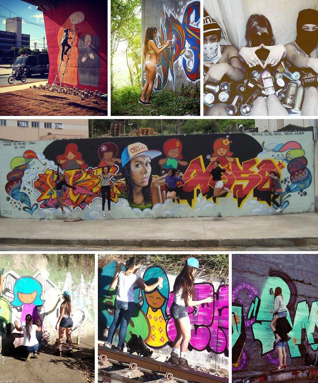 «Девушки не должны рисовать фигню в розовых цветах»: Интервью с граффити-командой As Mina Do Vandal. Изображение № 1.