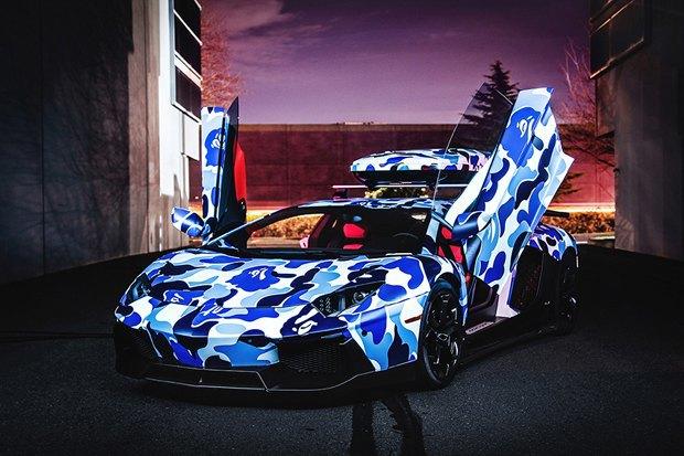 Марка Bape и компания Lamborghini представили совместную модель автомобиля Aventador. Изображение № 5.