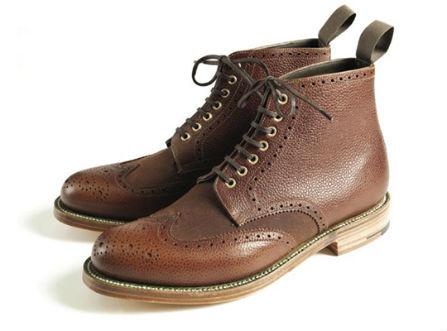Совместная коллекция обуви марок Grenson и Barbour. Изображение № 2.