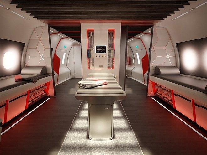 Nike представила супертехнологичный самолёт для своих спортсменов. Изображение № 5.