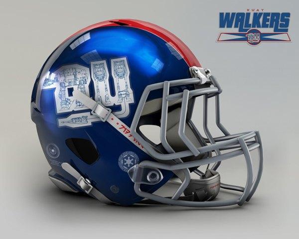 Мексиканец создал коллекцию футбольных шлемов, посвящённую «Звёздным войнам». Изображение № 2.