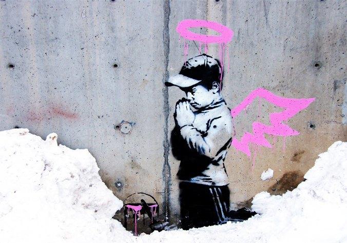 За порчу работ Бэнкси американец рискует сесть в тюрьму за вандализм. Изображение № 1.