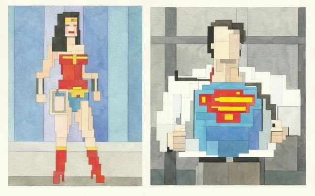 Адам Листер: Иконы поп-культуры в 8-битной живописи. Изображение № 16.