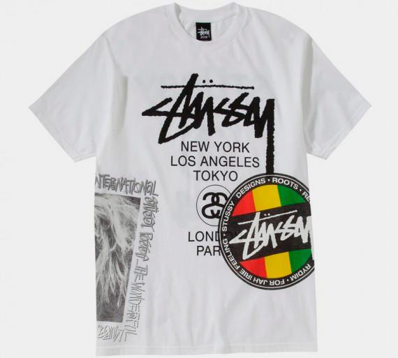 Марка Stussy выпустила весеннюю линейку футболок . Изображение № 8.