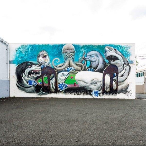 Гавайский фестиваль граффити Pow! Wow! в Instagram-фотографиях участников. Изображение № 7.