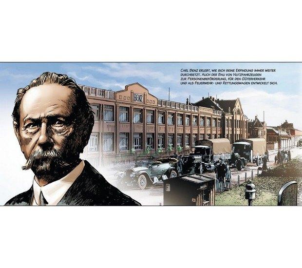 Вышли комиксы об изобретателе автомобиля Карле Бенце. Изображение № 7.
