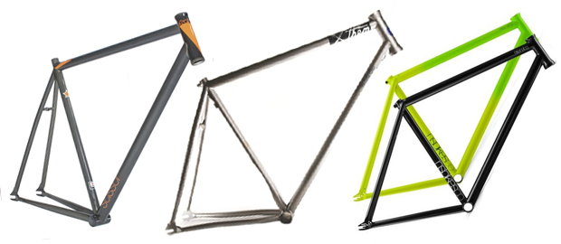 Слева направо: рама Charge Scissor, рама SE Bikes и Us Versus Them, рамы Analog от NS Bikes. Изображение № 5.