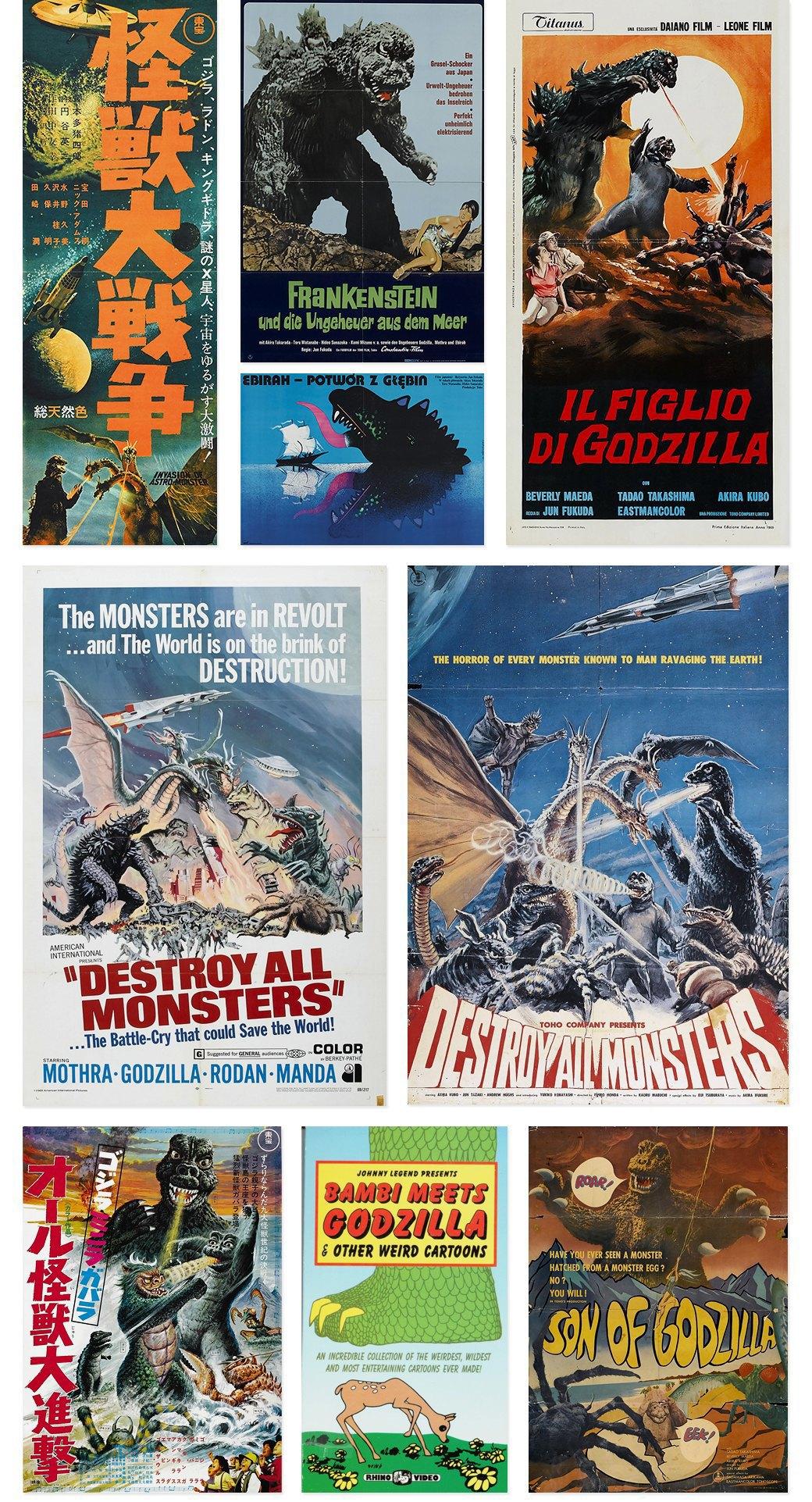 50 плакатов к фильмам о Годзилле. Изображение № 3.