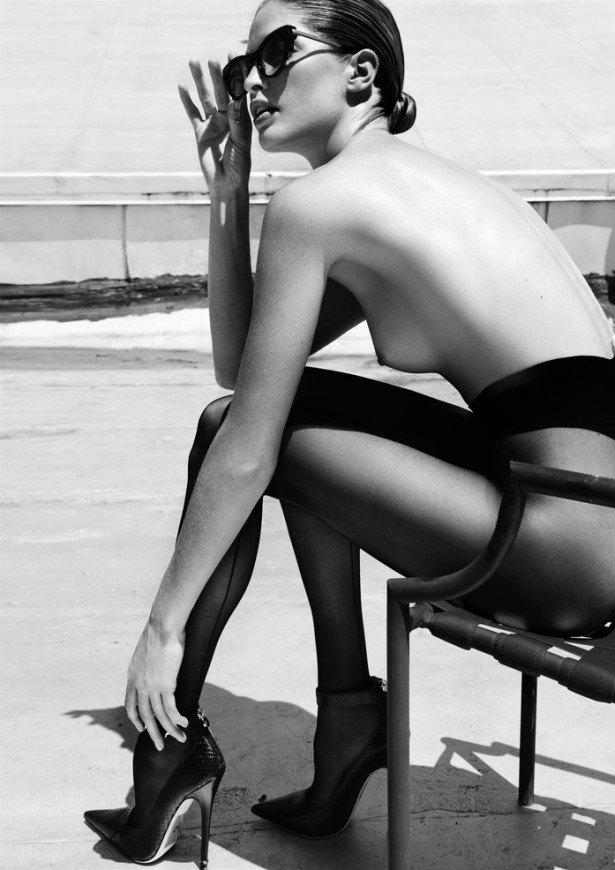 Американская модель Хайде Линдгрен снялась обнаженной для журнала Treats!. Изображение № 5.