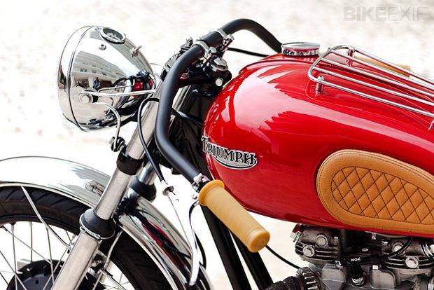 Мастерская Tricana Motorcycles собрала новый каферейсер Triumph TR6R. Изображение № 2.