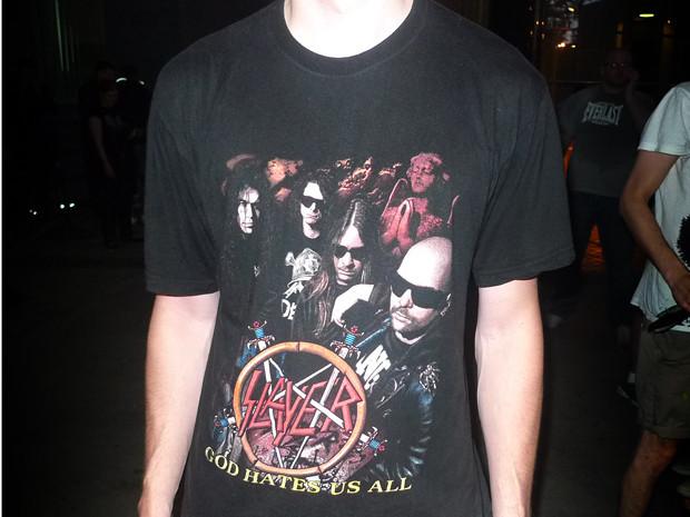 «God Hate Us All» —альбом 2001 года. Хотя сама футболка похожа на подделку. Изображение № 4.