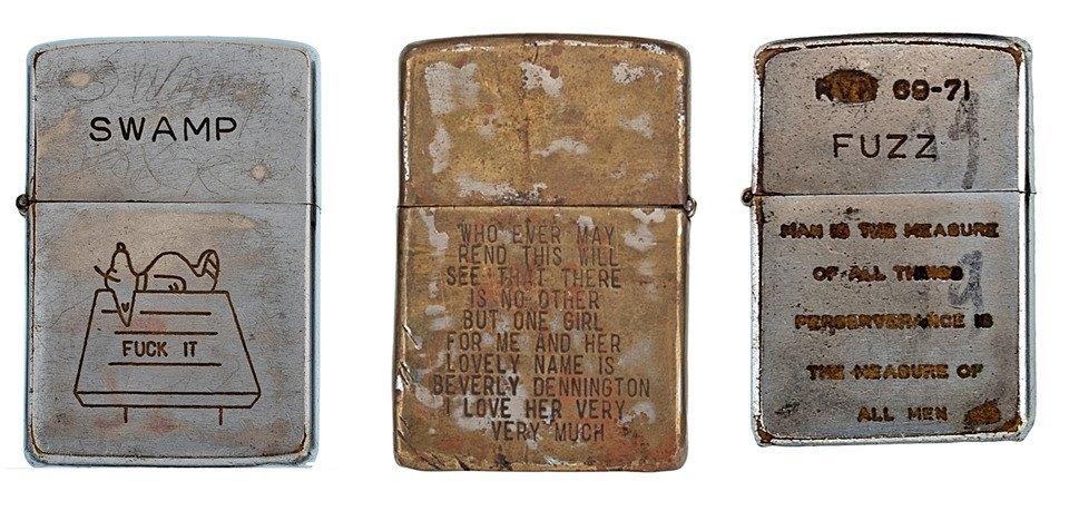 Фотографии коллекции зажигалок Zippo времен войны во Вьетнаме. Изображение № 2.