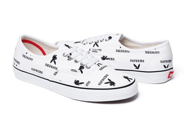 Марки Vans, Supreme и  Playboy выпустили совместную коллекцию обуви. Изображение № 10.