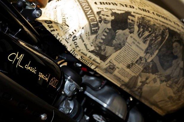Итальянская мастерская Centro Modo Lodi представила «королевский» кастом модели Triumph Thruxton. Изображение № 10.