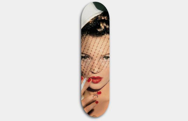 Художник Джефф Гаудинет выпустил серию дек для скейтбординга с портретами Кейт Мосс. Изображение № 3.